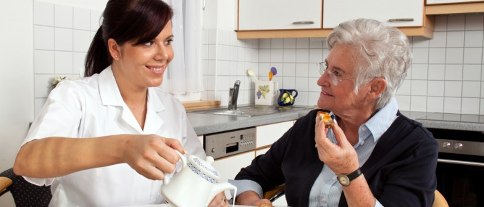 picture of older woman with nurse