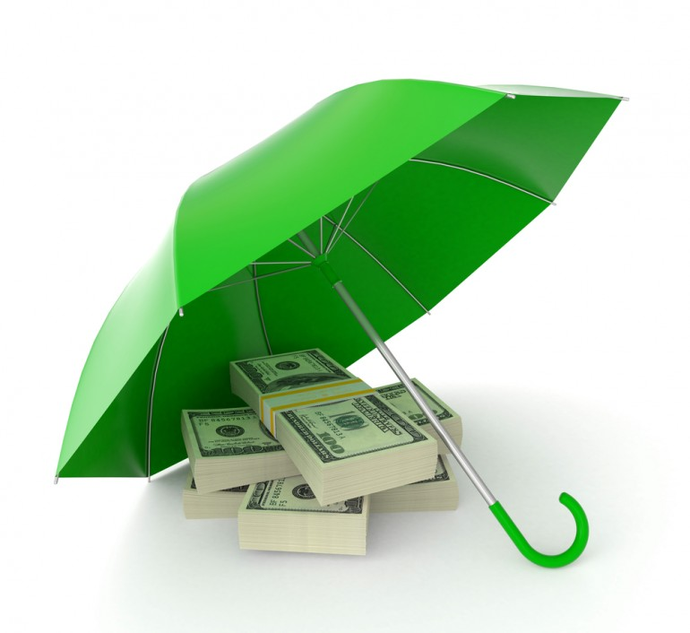 picture of umbrella and money